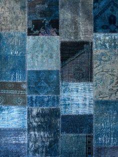 Karpet Patchwork Blue, beautiful colour levels #Boro