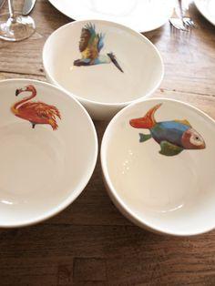 Catchii, bowl, flamingo, fish, pelican