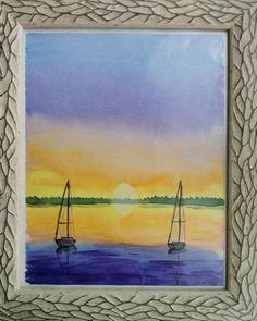 Quiero compartir lo último que he añadido a mi tienda de #etsy: Acuarela original.Barcos veleros http://etsy.me/2Cre3pB