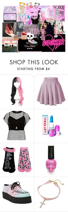 """""""Pastel Goth/ Melanie inspired"""" by sakura-chan-cxcvi ❤ liked on Polyvore featuring NARS Cosmetics, River Island and Hot Topic"""
