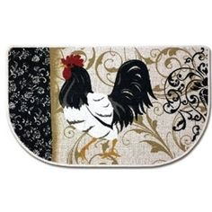 rooster and chicken decorations for kitchen | Country Rooster Shelf Wallpaper Border, chicken CB5538BD sunflowers