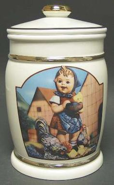 Cookie Jar in the Hummel Collection pattern by Danbury Mint