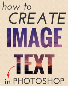 How to create image text in photoshop.
