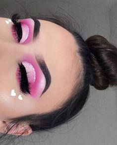 Day Eye Makeup, Day Makeup Looks, Eye Makeup Steps, Pink Makeup, Cute Makeup, Pretty Makeup, Eyeshadow Makeup, Eyeshadow Palette, Pink Eyeshadow