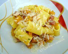 Pasta con zucca e pancetta http://blog.giallozafferano.it/rafanoecannella/pasta-con-zucca-e-pancetta/