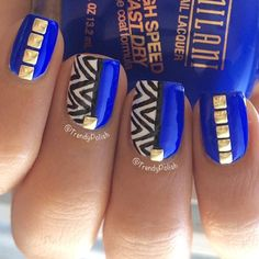 In love with this right now! blue, gold and stripes together looks heavenly!