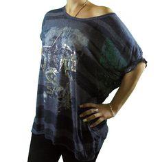 camiseta oversize estrella