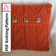 PDF KNITTING PATTERN - Branching Out chunky cable knit 18x18 pillow cover