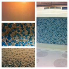DIY Backsplash!! Fishbowl/vase Filler Rocks From The Dollar Tree, Tile  Mastic