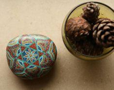An amazing star of david mandala stone. A fridge magnet.