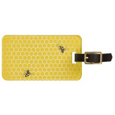 Honeycomb Luggage Tag http://www.zazzle.com/honeycomb_luggage_tag-256966278947508026?utm_content=buffer8dd3f&utm_medium=social&utm_source=pinterest.com&utm_campaign=buffer #bees #honey #luggagetags
