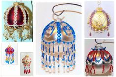 5 Instant PDF Download Tutorials: Beaded Christmas Ornament Cover Pattern Collections at Bead-Patterns.com!