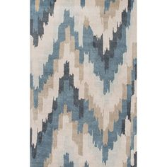 Hand-Tufted Blue Area Rug