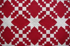 Linda's Red & White, quilted by Karen of Quilts on Bastings