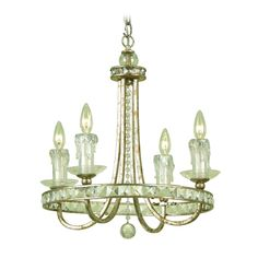 AF Lighting Traditional Crystal Mini-Chandelier - Candice Olson Design | 7450-4H | Destination Lighting