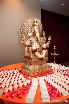 indian wedding reception ganesha statue http://maharaniweddings.com/gallery/photo/6765
