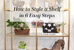 how to style a shelf, family friendly shelf, family friendly decor, how to style a bookshelf, ikea vittsjo shelf, ikea shelf diy, gold ikea shelf, marble adhesive paper