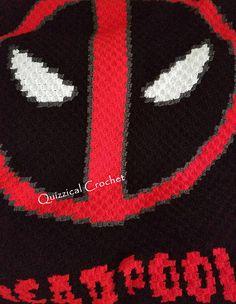 Deadpool Corner to Corner Crochet Blanket Pattern Crochet Star Blanket, Crochet Blanket Tutorial, Crochet Throw Pattern, Crochet Stars, Crochet Patterns, Crochet Hook Sizes, Crochet Hooks, Crochet World, Crochet Things