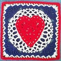 FEBRUARY??                Heart of the USA Square (12″) | Crochet Free Pattern