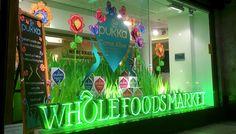 Window display for Pukka Herbs in Kensington.