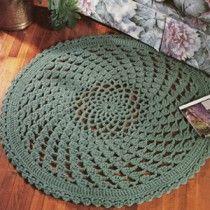 Lacy Clusters Rug Crochet ePattern