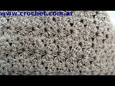 Point jasmine traditional fabric crochet step by step tutorial. Crochet Star Stitch, Crochet Stitches Chart, Crochet Diagram, Crochet Videos, Knitting Videos, Loom Knitting, Knitting Stitches, Crochet Box, Crochet Motif