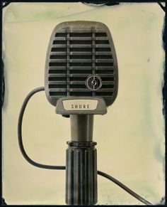 Love the vintage microphone