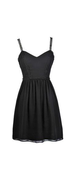 Lily Boutique Little Black Sundress , $38 Little Black Dress, Black A-Line Dress, Black Summer Dress, Black Sundress, Black Crochet Dress, Black Party Dress, Black Cocktail Dress, Cute Black Dress www.lilyboutique.com