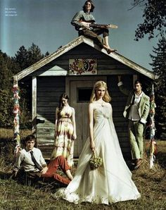Hippie-style wedding pic