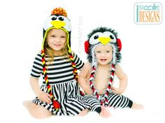 Penguin Animal Hat Crochet Pattern for Boys and Girls of all ages by IraRott
