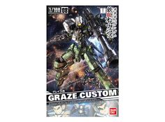Model kit - Gunpla of Graze Custom (EB-06/tc) from the anime series Mobile Suit Gundam IRON-BLOODED ORPHANS. High quality model that must assembled (includes all snap-in parts and stickers), made of PVC material, with a scale of 1/100 (Master-Grade), by Bandai. Includes detailed assembly instructions.