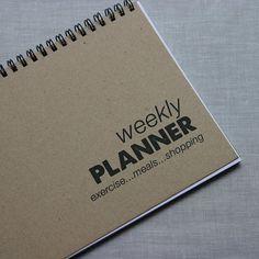 weekly planner.
