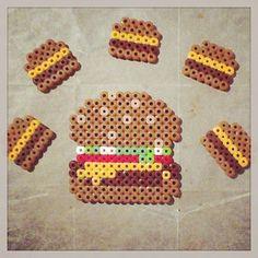 Burgers perler beads by ashleyeglidewell