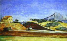'El corte de tren', óleo de Paul Cezanne (1839-1906, France)