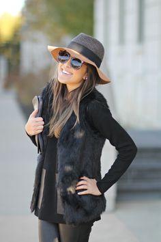 Leather Pants and Fur Vest