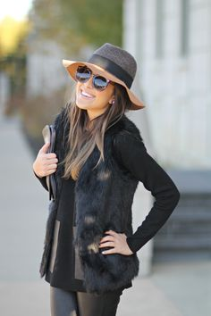 Leather Pants and Fur Vest
