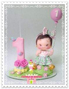 1st Birthday Cakes, Baby Girl First Birthday, Birthday Cake Toppers, Bird Party, Butterfly Party, Hobbies And Crafts, Diy And Crafts, Baby Kit, Clay Dolls