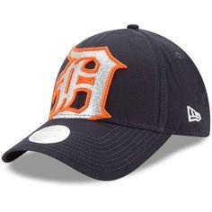 892c95e9123 Women s Detroit Tigers New Era Navy Glitter Glam 3 9FORTY Adjustable Hat