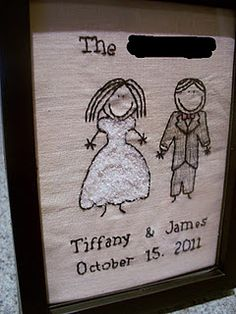 Cute Stitched Wedding gift
