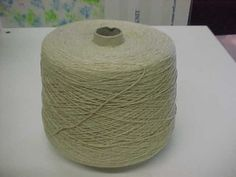 2/15 Tan and Off White Marl Acrylic Yarn, Cone Yarn, Acrylic Yarn by stephaniesyarn on Etsy