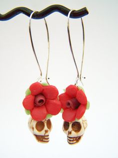 Dia de los muertos earrings.
