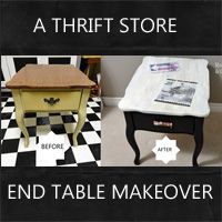 end table makeover: Rustic Crafts & Chic Decor