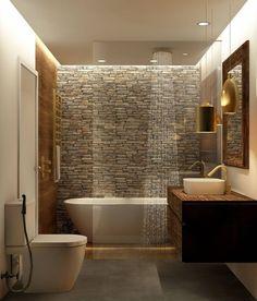 Washroom Design, Rustic Bathroom Designs, Bathroom Design Luxury, Modern Bathroom Decor, Bad Inspiration, Bathroom Inspiration, Home Room Design, Home Interior Design, Small Bathroom Layout