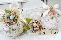 Handmade Nests Projects by Melissa Phillips for Papertrey Ink (March 2013)
