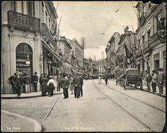 Início do século passado (1900/1910) - Rua 15 de Novembro, na região da Sé.
