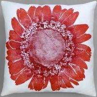 Dermond Peterson Daisy Red Pillow