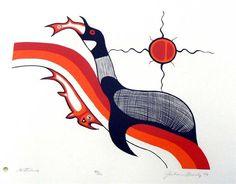 Canadian Modern Art - Waterbird - Jackson Beardy