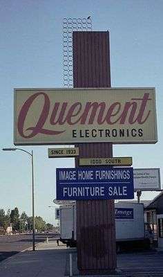 Quement Electronics -- lots of memories of going there with my dad .....
