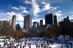 """The Wollman Rink in NYC ... a winter wonderland in Central Park ... was featured in a fav romcom movie """"Serendipity."""""""