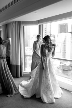 A full dress shot of one of my favorite wedding dresses. In love with it. (Photography by Erin & Tara) #weddingfavorites